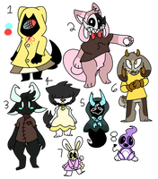 Adopt OTA- Doodle Adopts (4/8 Open) by D00dle-Dood