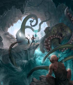 Cave octopus net