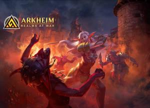 Arkheim Trailer Illustration#5 Female Elf fights s