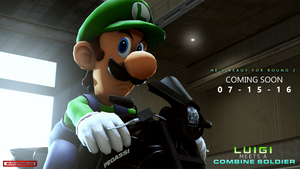 (SFM Teaser) Luigi Meets A Combine Solider (1)