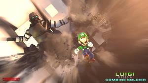 (SFM) Luigi Meets A Combine Soldier (Artwork 02)