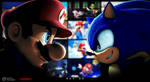(SFM) Mario/Sonic Music Video - Main Teaser Art by MarioT209