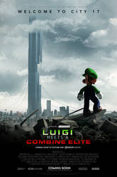Luigi Meets a Combine Elite - Theatrical Poster