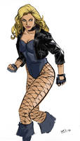 Black Canary Inked and Colored