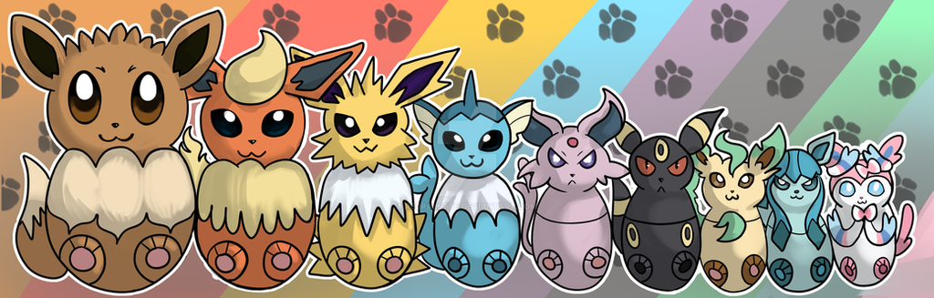 Pokemon Eevee Evolution Bookmark By RedPalette