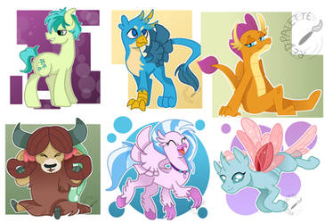 Young Mane Six by RedPalette
