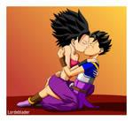 Caulifla and Cabba kissing