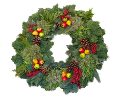 Holiday Wreath by muffet1