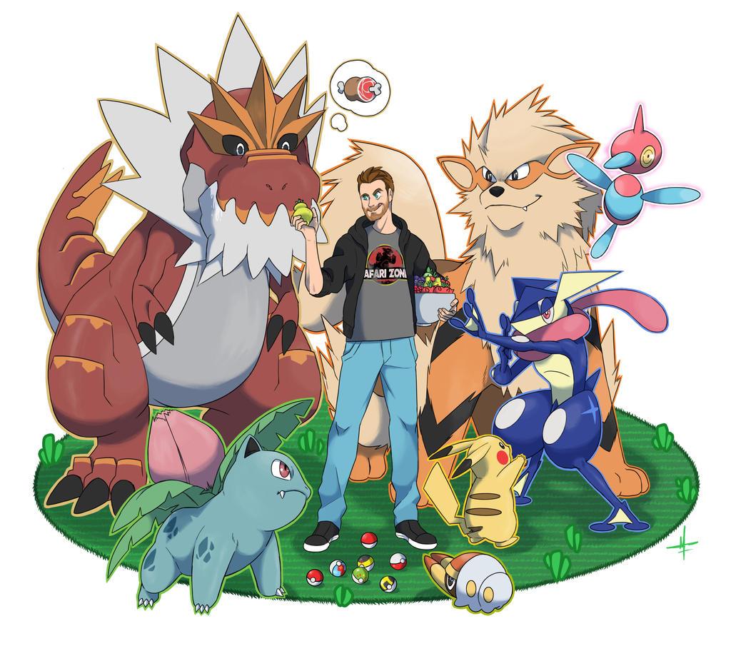 Pokemon Team Herhane by SeiKyo-Art