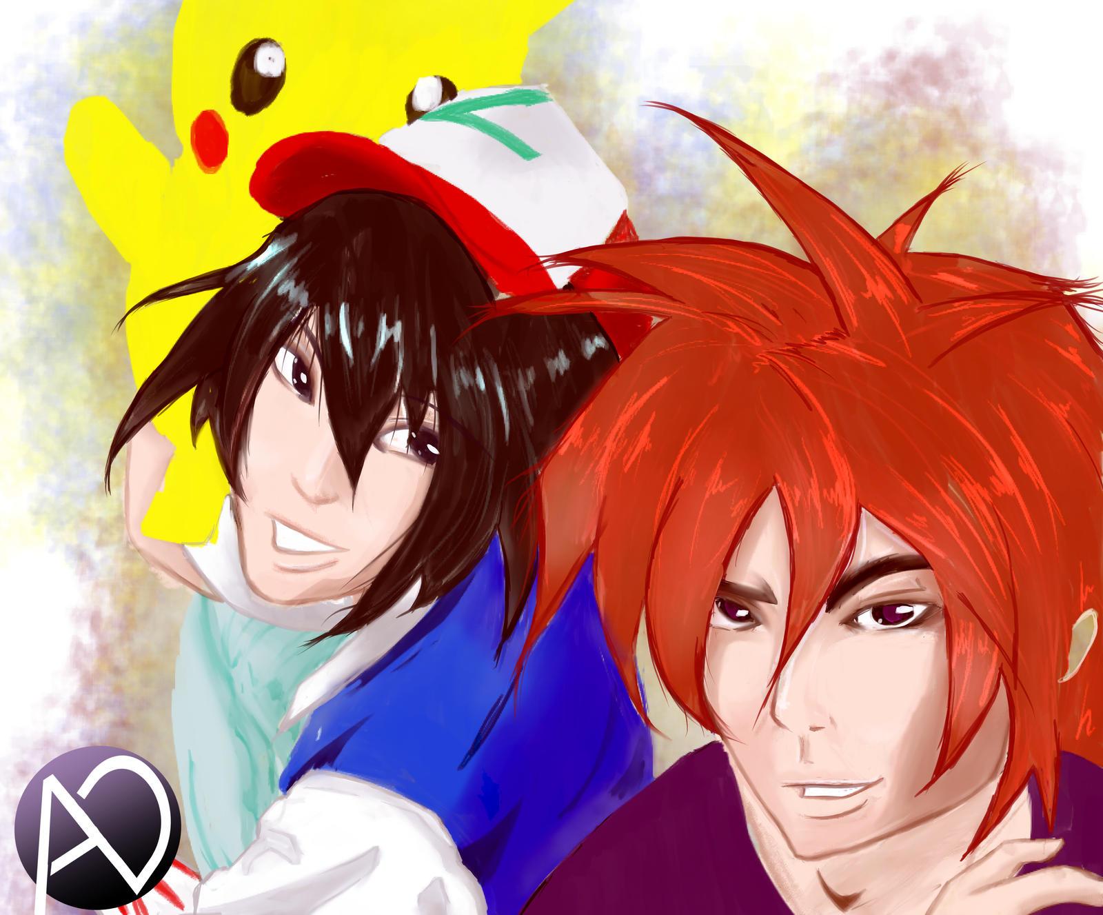 Rivals and Friends - Pokemon Fanart by avenirdesign