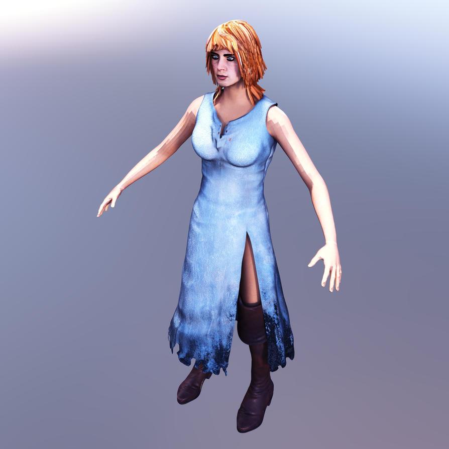 Woman in Blue Dress by avenirdesign