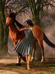 Wild Horse in the Dark Forest