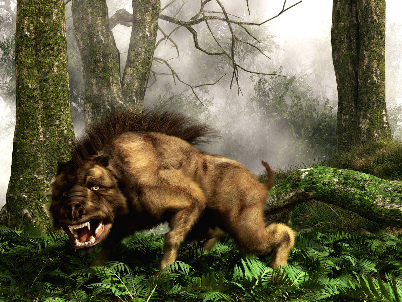 Daeodon, The Terrible Hog by deskridge