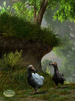 Dodos in the Forest by deskridge