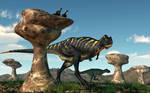 Aucasaurus Among Hoodoos