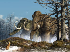 A Storm of Mammoths by deskridge