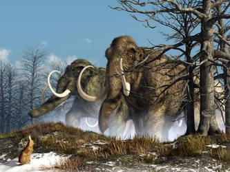 A Storm of Mammoths by deskridge
