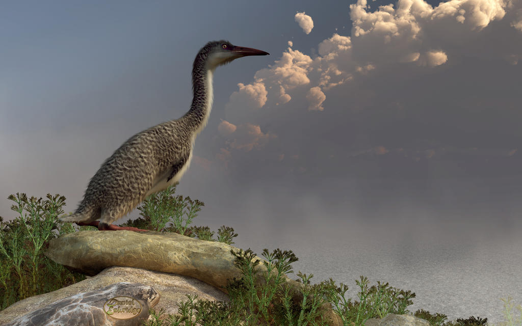 Hesperornis by the Sea