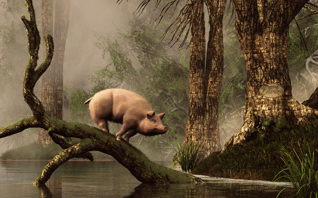 The Lost Pig by deskridge