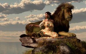 Her Pet Lion by deskridge