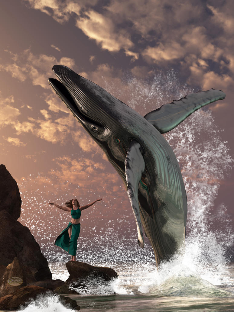 Whale Watcher Fantasy by deskridge