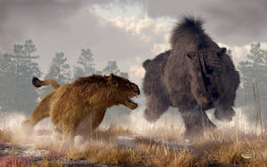 Clash of The Ice Age Beasts by deskridge
