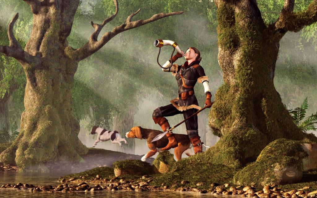 Medieval Huntress by deskridge
