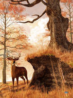 Autumn Buck by deskridge