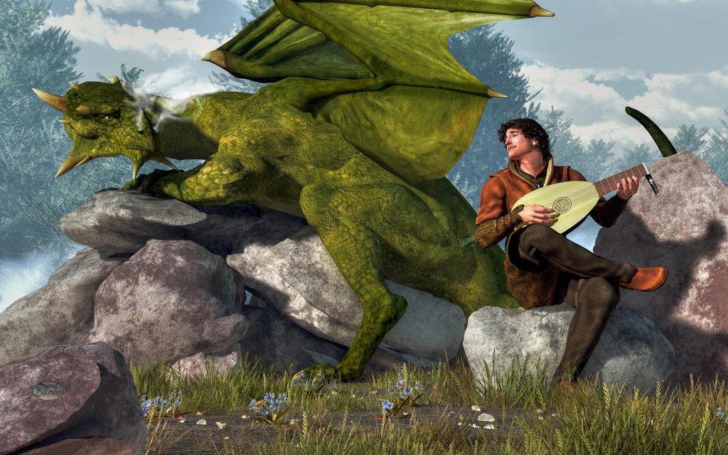 Arridaios - Que le vent porte vos pas, et le temps votre gloire Bard_and_dragon_by_deskridge-d6qwnjq