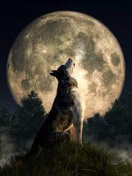 Howling Wolf by deskridge
