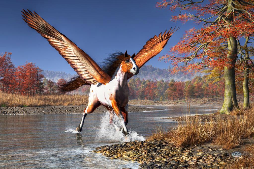Autumn Pegasus by deskridge