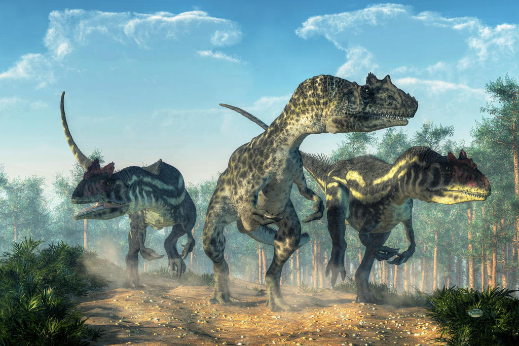 Allosauruses by deskridge