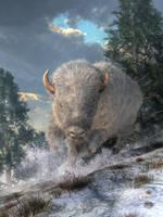 White Bison by deskridge