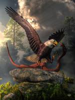 Eagle Vs Cobra by deskridge