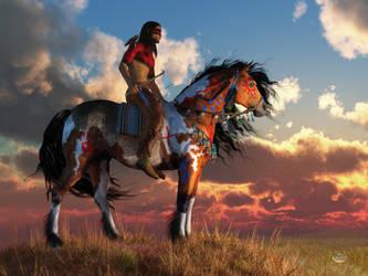 Warrior and War Horse by deskridge