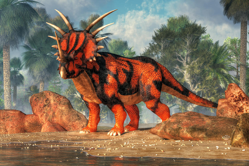 Un moment au marché [Mehen] Styracosaurus_by_deskridge-d8td2m0