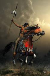 Warriors Of The Plains by deskridge