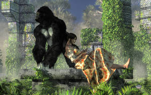Babysitting Little Kong by deskridge