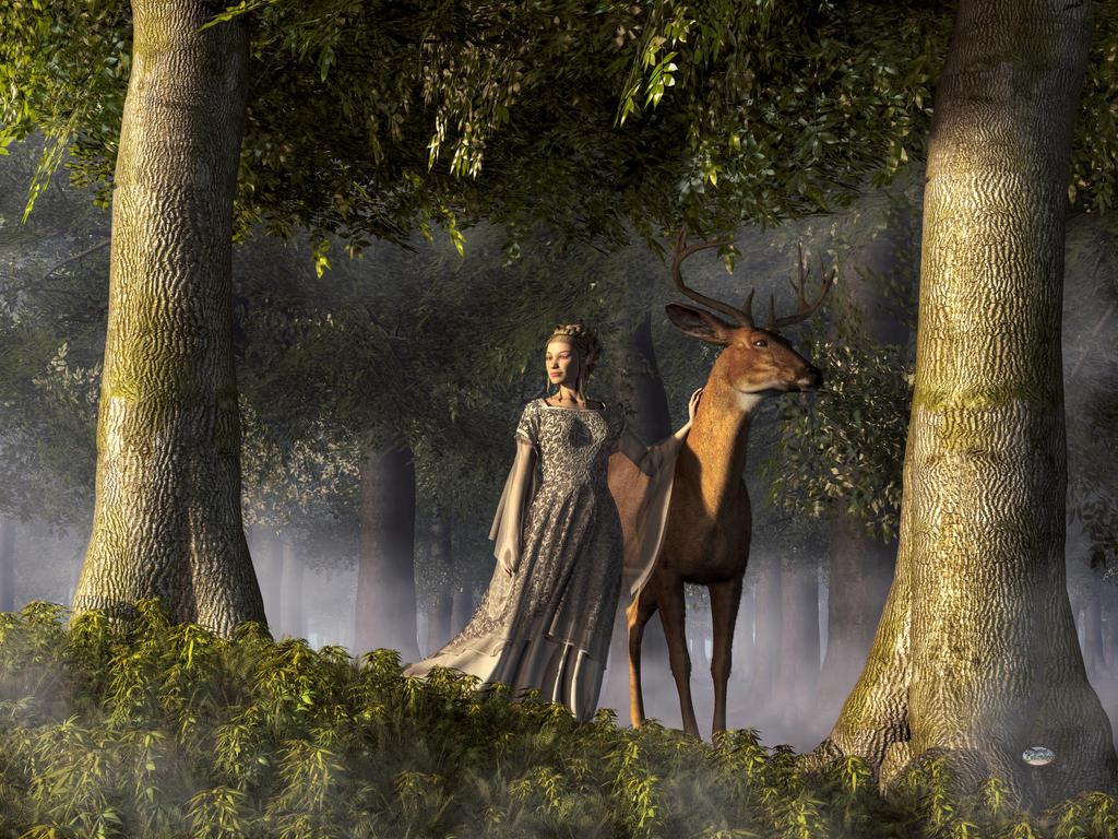 Elf and Buck by deskridge