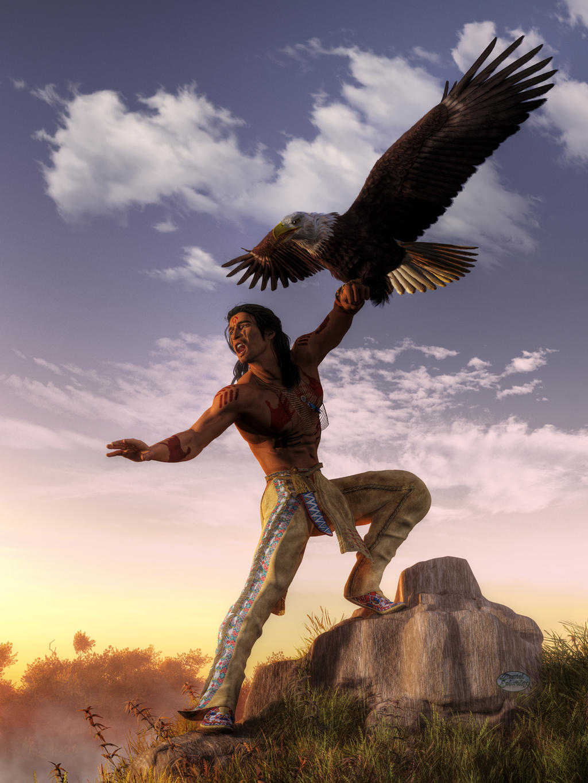 Warrior and Eagle by deskridge on DeviantArt