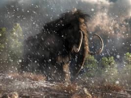 Mammoth in a Blizzard by deskridge