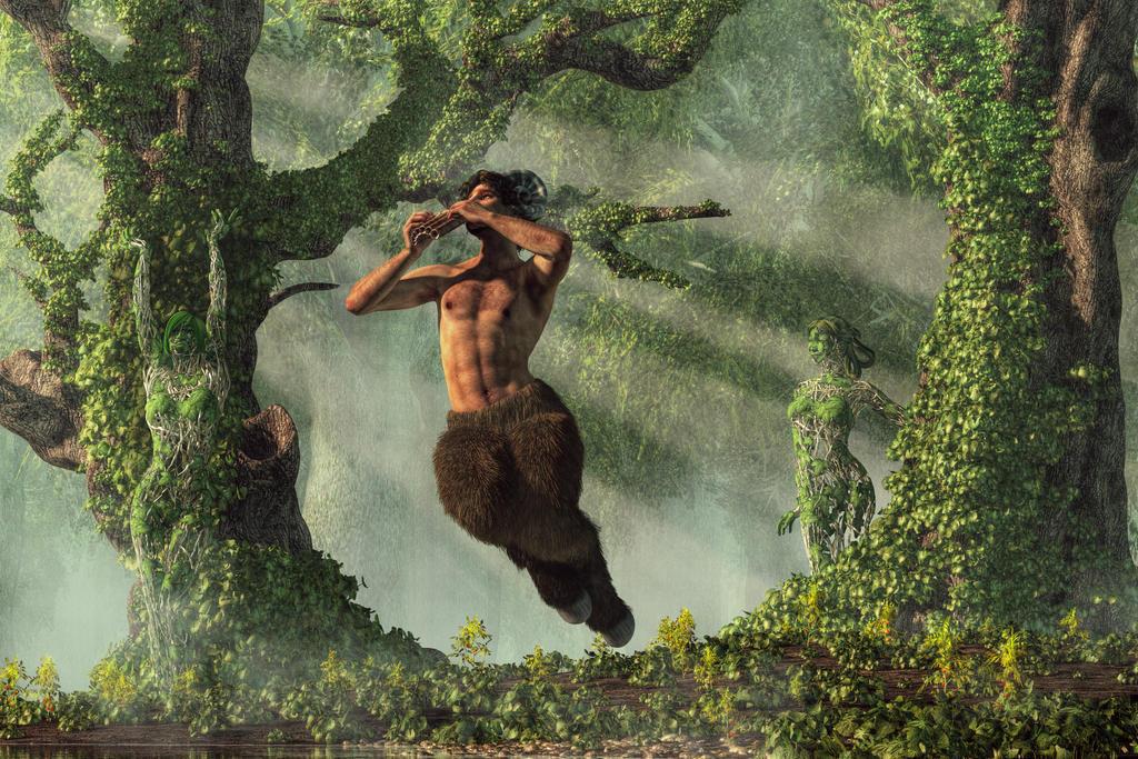 Pan Wakes the Dryads by deskridge