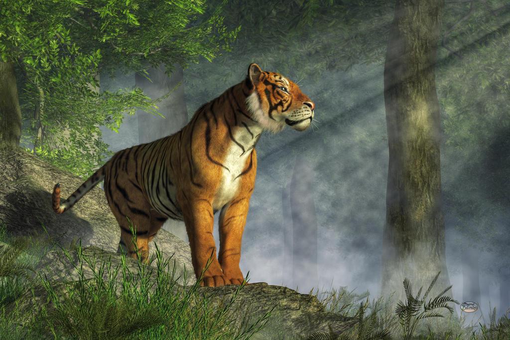 Tiger in the Light by deskridge