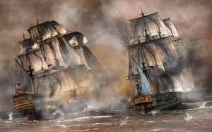 Pirate Battle by deskridge