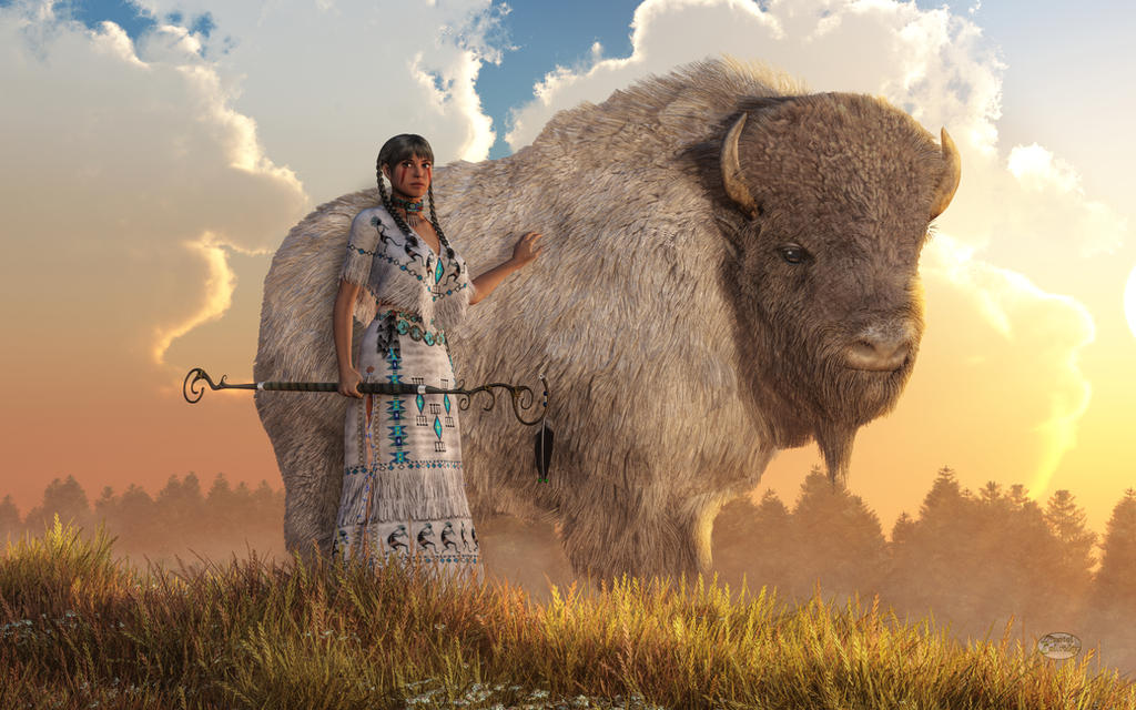 White Buffalo Calf Woman By Deskridge