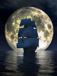 Full Moon Pirates by deskridge