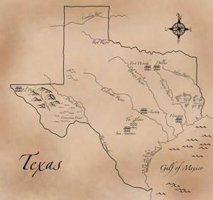 Texas Fantasy Style Map