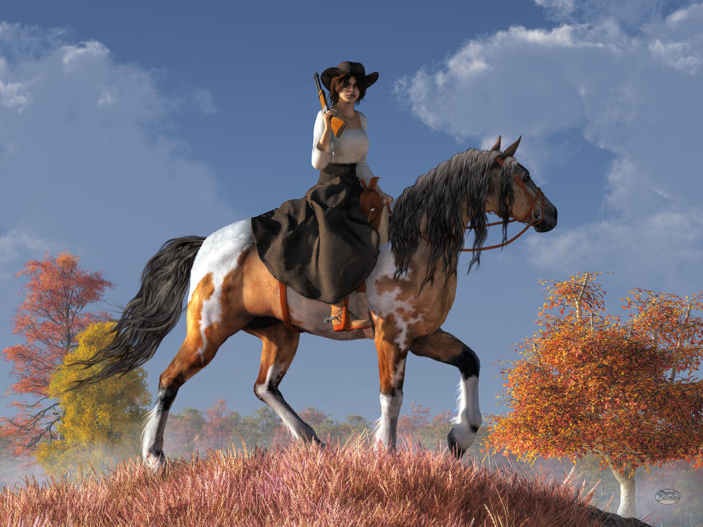 Cowgirl by deskridge