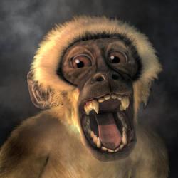 Screaming Monkey by deskridge