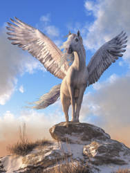 Pegasus The Winged Horse by deskridge